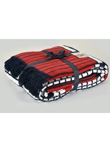 Aksu Çift Kişilik Pamuklu Battaniye Liner Renkli